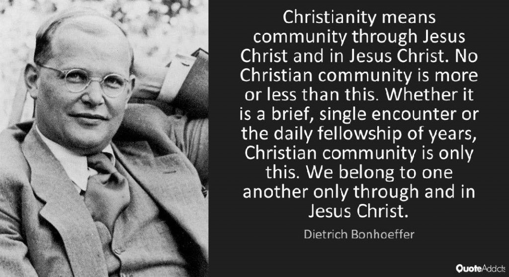 Bonhoeffer Community quote
