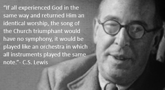 CS Lewis worship quote