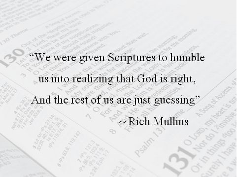 Rich Mullin quote on scripture